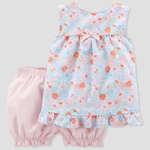 779dbafa7 Carter's Matching Sets   Baby Girl Floral Top Bloomers Set Clothes ...